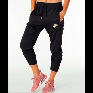 NWT Nike Joggers w/ Rose Gold Logo - Sz Medium